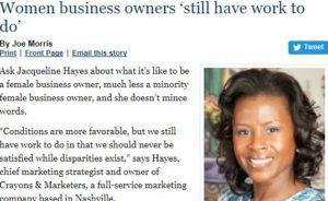Jacqueline Hayes TN Ledger Women In Business