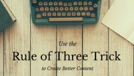 Use rule of three to create better content